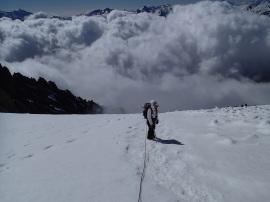 descente au dessus des nuages