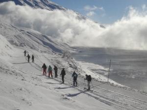 Couleurs magnifiques le long du Lac du Mont-Cenis
