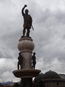 Skopje : Alexandre le Grand, 18M€ la statue